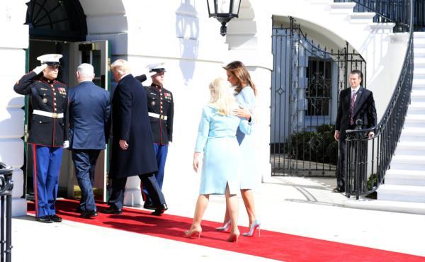 Сара Нетаниягу и Мелания Трамп пообщались наедине