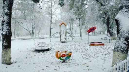 В аннексированном Крыму выпал первый снег