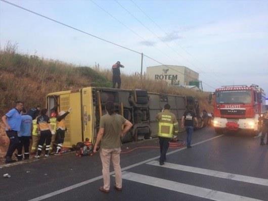 В Турции пассажирский автобус попал в ДТП, почти 50 пострадавших